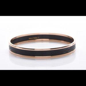 Hermès Enamel Printed Narrow Sellier Bracelet 65